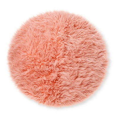 Faux Fur Rug (3' Round)Pink - Pillowfort™