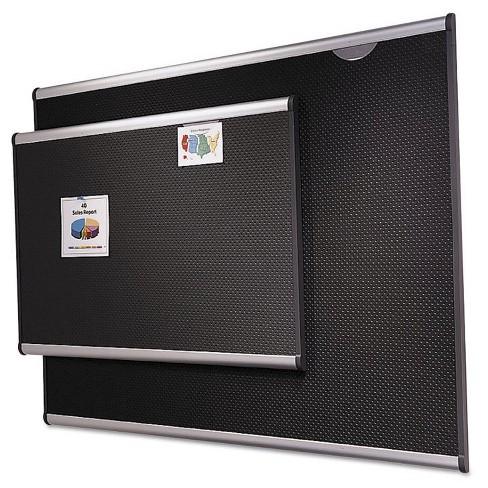 Quartet Embossed Bulletin Board Hi Density Foam 36 X 24 Black