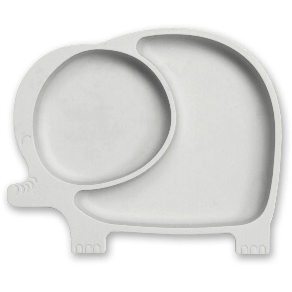 Image of Sage Spoonfuls Silicone Suction Elephant Plate - Gray