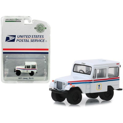 """1971 Jeep DJ-5 """"United States Postal Service"""" (USPS) White """"Hobby Exclusive"""" 1/64 Diecast Model Car by Greenlight"""