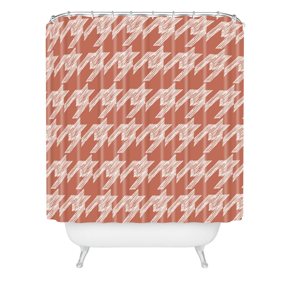 Gabriela Fuente Neo Classic Shower Curtain Rust Deny Designs