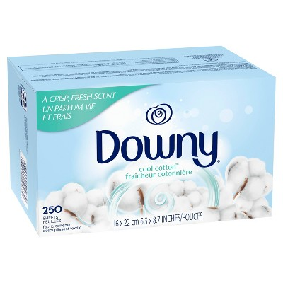 Downy Cool Cotton Fabric Softener Dryer Sheets - 250ct