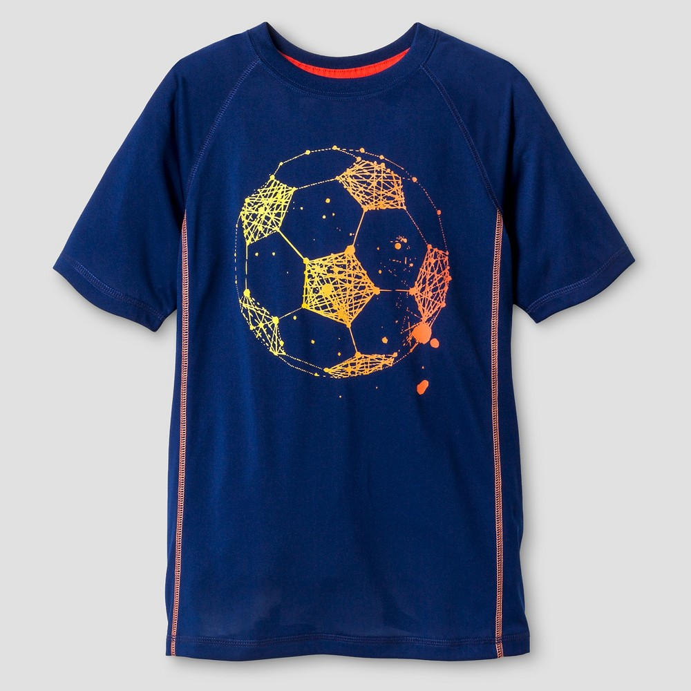 Boys' Activewear Soccer Graphic T-Shirt Cat & Jack Blue S