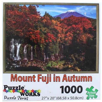 PuzzleWorks 1000 Piece Jigsaw Puzzle | Mount Fuji In Autumn