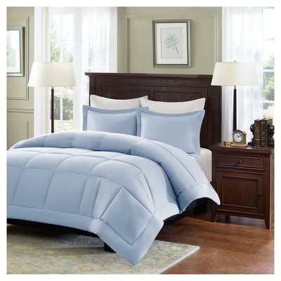 Blue Belford Microcell Down Alternative Comforter Set Set Full/Queen 3pc
