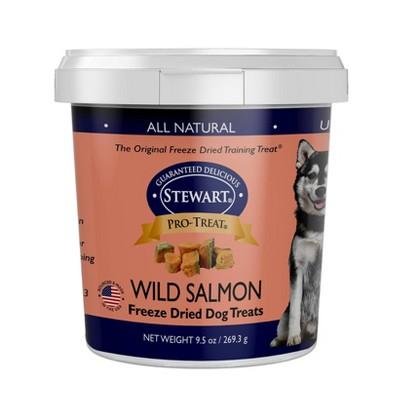 Stewart Freeze-Dried Wild Salmon Dog Treat - 9.5oz Tub