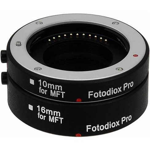 Fotodiox Automatic Macro Extension Tube Kit with Auto Focus and TTL Auto Exposure for Micro Four Thirds Mirrorless Camera System - image 1 of 4