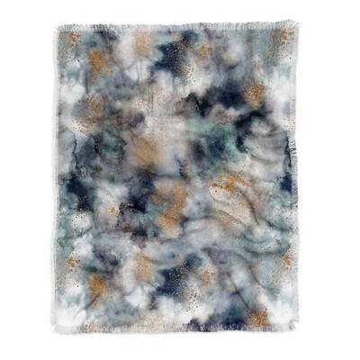 "50""x60"" Ninola Design Smoky Marble Dark Astronomy Woven Throw Blanket Gray - Deny Designs"