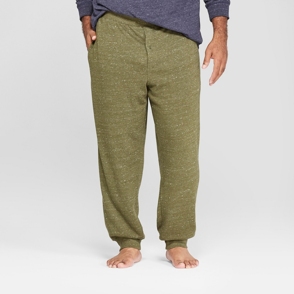 Men's Tall French Terry Jogger Pajama Pants - Goodfellow & Co Olive (Green) LT