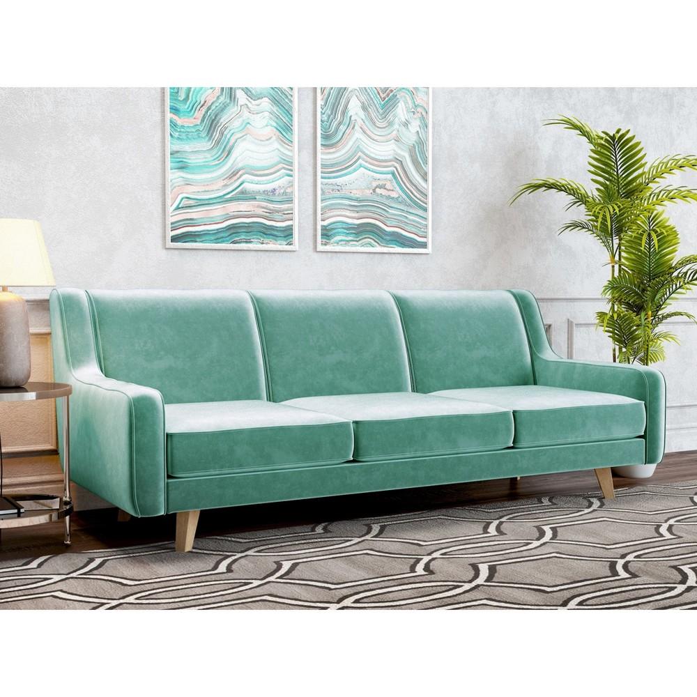 Hazel Modern Velvet Sofa Seafoam - AF Lifestlye