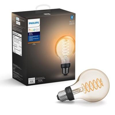 Philips Hue Filament G25 Smart Vintage LED Light Bulb with Bluetooth