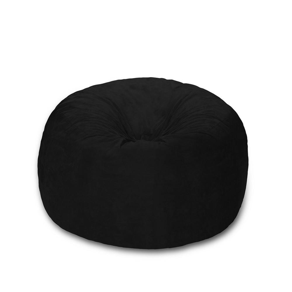 Foam Bag Chair 4 ft - Black - Relax Sacks