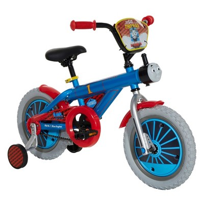 Dynacraft Children's Custom Thomas and Friends Themed Beginner Street Bike with Removable Training Wheels, 14-Inch