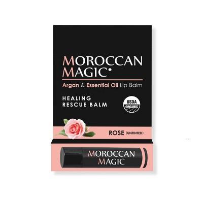 Moroccan Magic Organic Lip Balm - Rose - 0.15oz