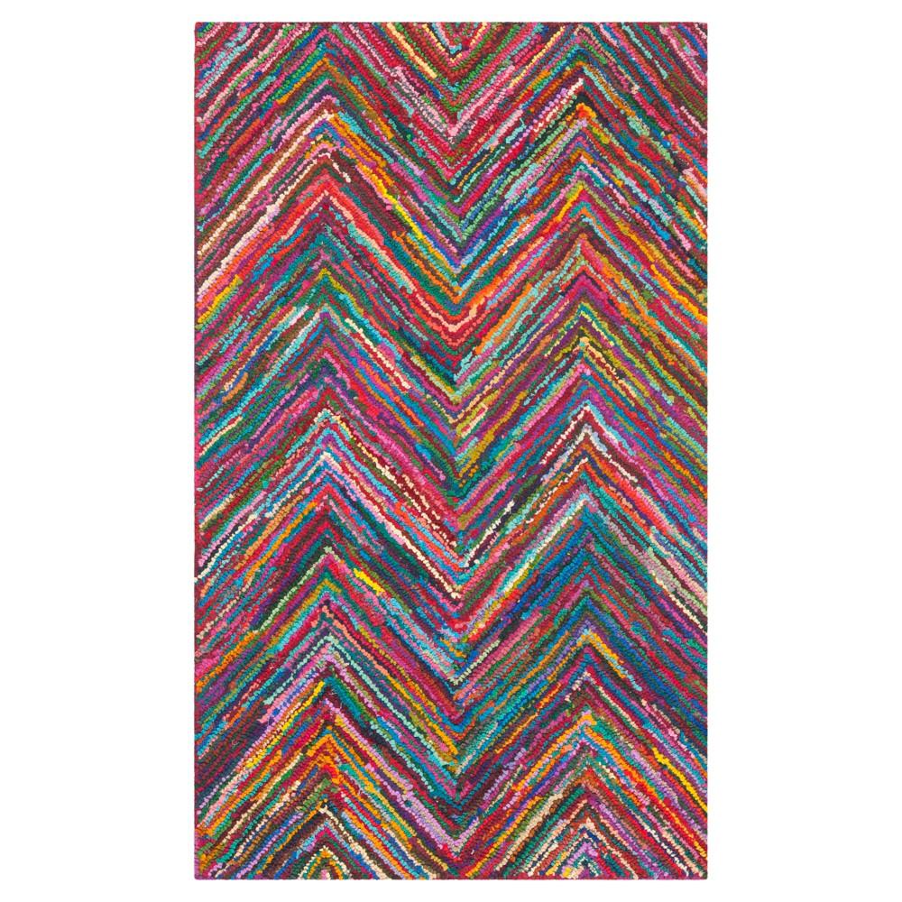 Morgan Accent Rug - Pink/Multi (3'x5') - Safavieh, Pink/Multi-Colored