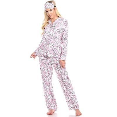Women's Three-Piece Pajama Set - White Mark