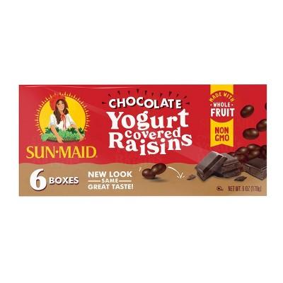 Sun Maid Dark Chocolate Yogurt Raisins - 6ct