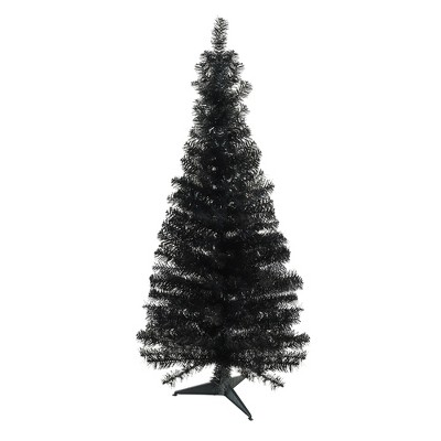 Northlight 4' Unlit Artificial Christmas Tree Slim Black Tinsel