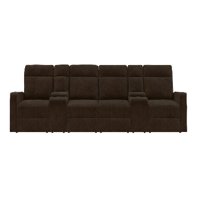 Ryan 4 Seat Modular Recliner Sofa with Storage Consoles - ProLounger
