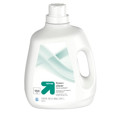 Liquid Fabric Conditioner Free & Clear 129oz - 150 loads - Up&Up™ (Compare to Ultra Downy® Free & Gentle)