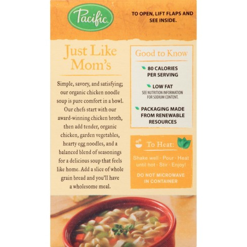 Pacific Foods Organic Chicken Noodle Soup 176oz Target