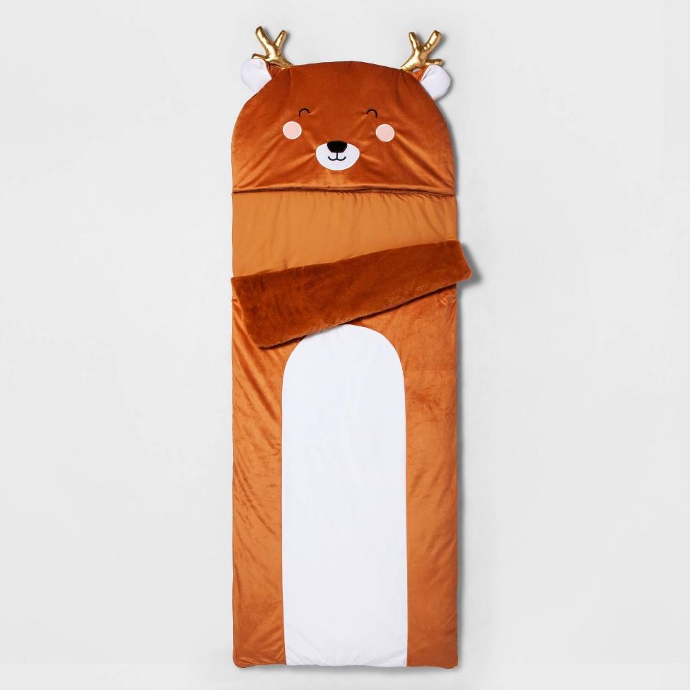 Image of Deer Character Sleeping Bag Brown - Pillowfort , Kids Unisex