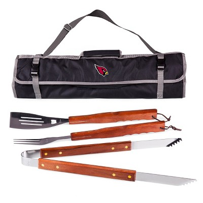 Arizona Cardinals 3-Piece BBQ Tote and Tools Set by Picnic Time