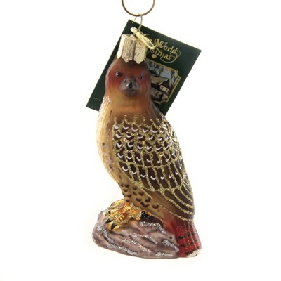 """Old World Christmas 3.5"""" Red-Tailed Hawk Bird Of Prey  -  Tree Ornaments"""