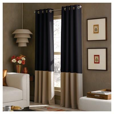 Curtainworks Kendall Lined Curtain Panel - Black (108 )