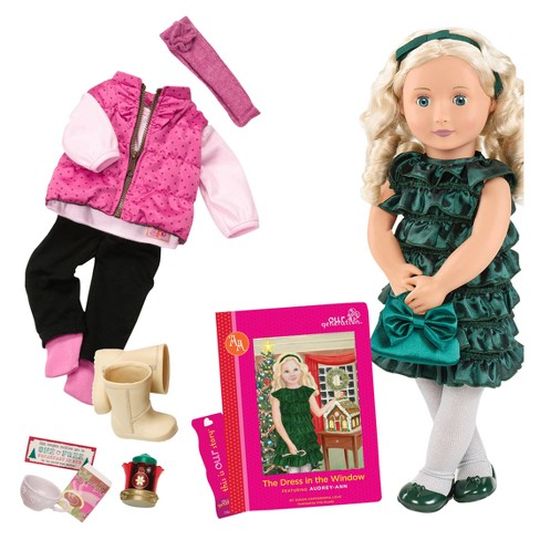 Our Generation® Deluxe Poseable Christmas Doll with book - Audrey-Ann - image 1 of 4