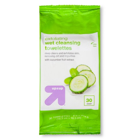 Exfoliating Cleansing Towelettes 30 ct - Up&Up™ - image 1 of 1