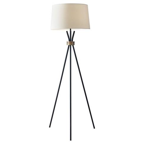 "60"" 3-way Benson Floor Lamp Black - Adesso - image 1 of 3"