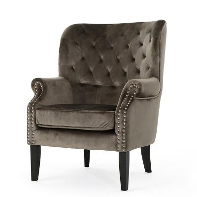 Tomlin New Velvet Club Chair - Christopher Knight Home
