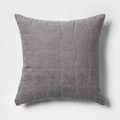 Quilted Geo Square Throw Pillow Gray - Project 62™