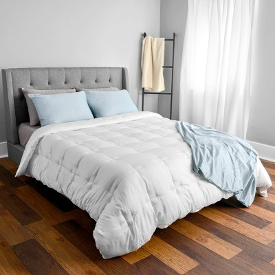 Full/Queen 300 Thread Count BeComfy Comforter White - Tranquility