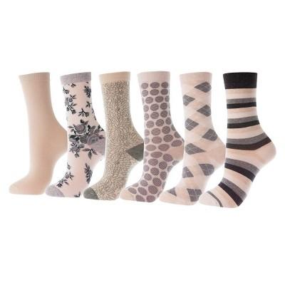 Mio Marino - Women's Dress Crew Socks 6 Pack