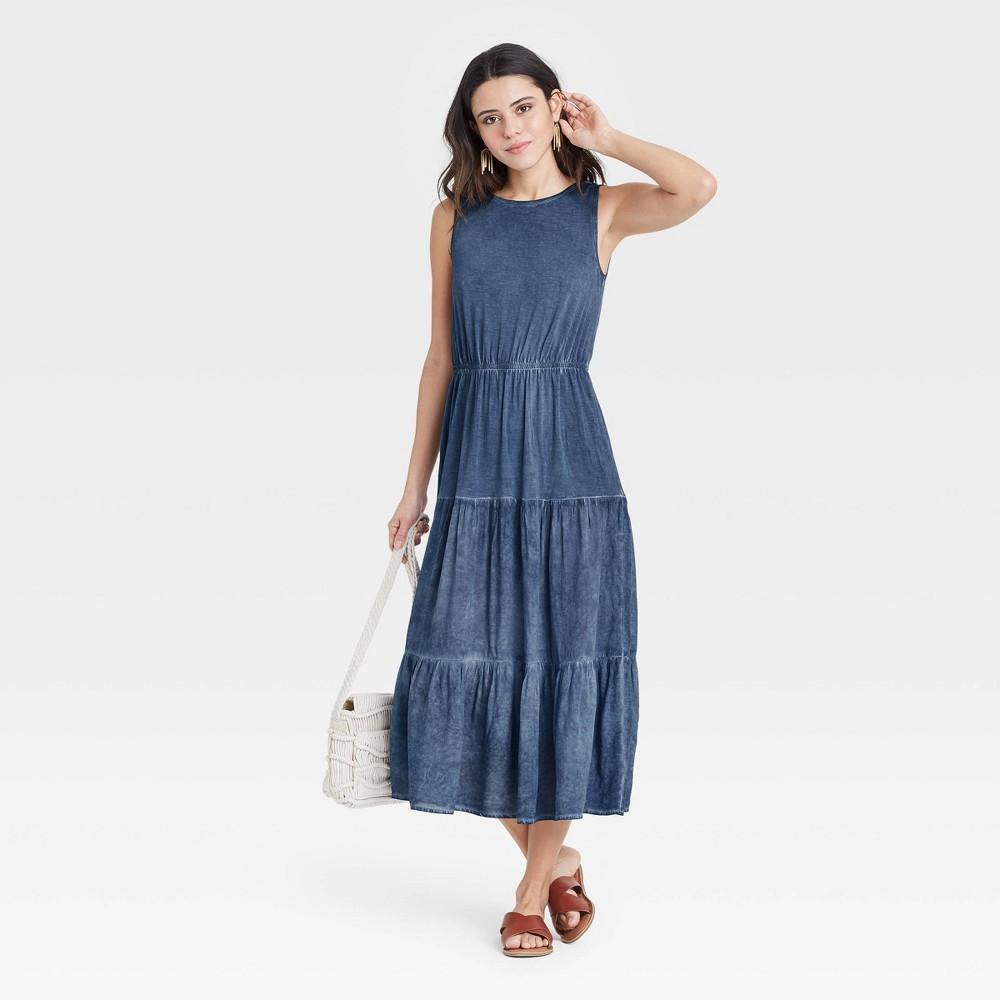 Women 39 S Sleeveless Knit Dress Knox Rose 8482 Navy Xxl