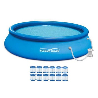 Summer Waves 15ft X 36in Inflatable Above Ground Pool \ Pump \ (12