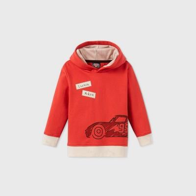 Toddler Boys' Cars Lightening McQueen Hooded Fleece Sweatshirt - Red 3T