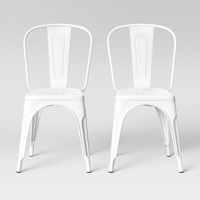 Set of 2 Carlisle High Back Dining Chair Matte White - Threshold™