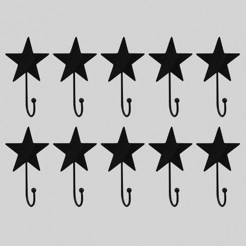 10pk Star Metal Hooks Black - Bullseye's Playground™ - image 1 of 2
