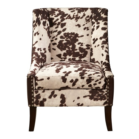 Chocolate Brown Accent Chairs.Dudley Chocolate Brown Hair On Hyde Accent Chair Brown Pulaski