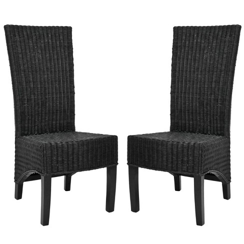 Siesta Wicker Dining Chair Black (Set of 2) - Safavieh® - image 1 of 7