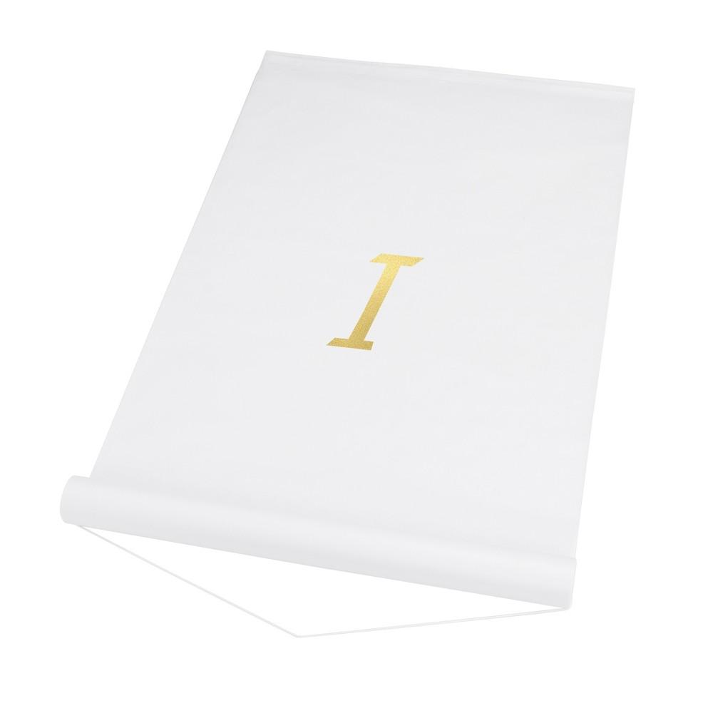 34 I 34 Personalized Wedding Aisle Runner White
