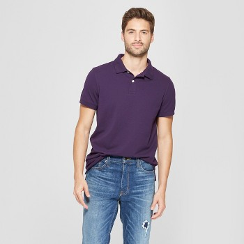 Goodfellow & Co Mens Standard Fit Short Sleeve Loring Polo T Shirt