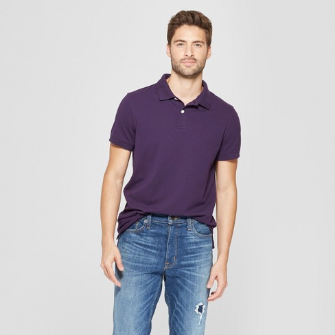 Men's Standard Fit Short Sleeve Loring Polo T - Shirt - Goodfellow & Co™ - image 1 of 3