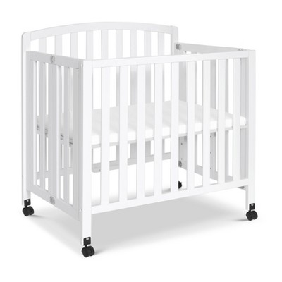 Davinci Dylan Folding Portable 3-In-1 Mini Crib And Twin Bed - White