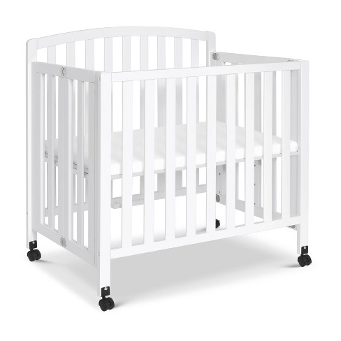 Davinci Dylan Folding Portable 3-In-1 Mini Crib And Twin Bed - White - image 1 of 4
