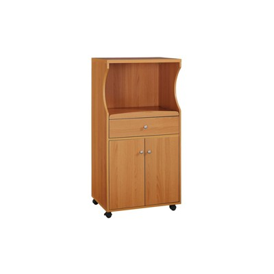 Microwave Cart Cherry - Home Source, Brown