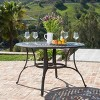 Alfresco Round Cast Aluminum Dining Table - Bronze Christopher Knight Home - image 2 of 4